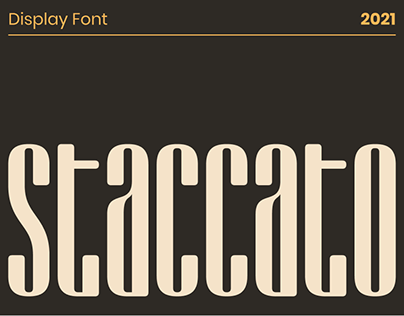 Staccato — Display Font