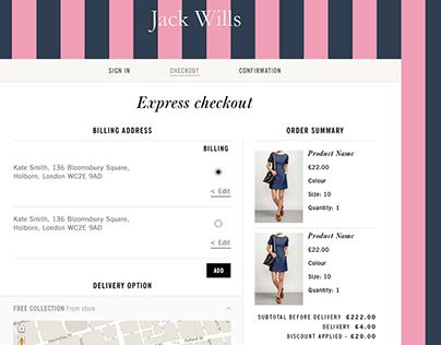 Jack Wills - Responsive UX website redesign