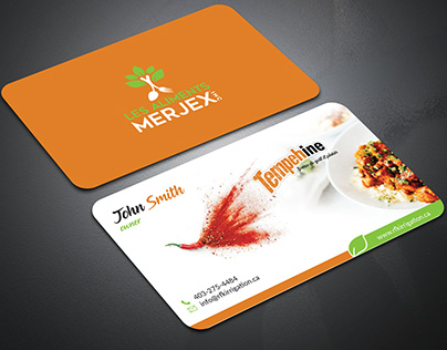 Business card design for restaurant