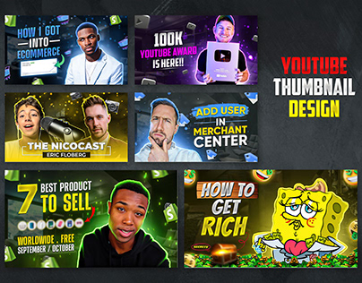 Modern YouTube Thumbnail Templates