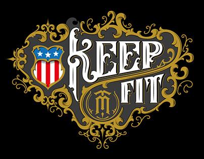 Keep Fit - fitness apparel logo