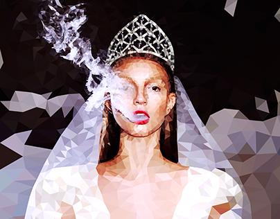 Supermodel in the polygon