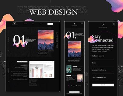 Graphic Web design for Vanessa Franz.