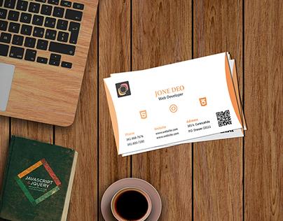 Web Development business card
