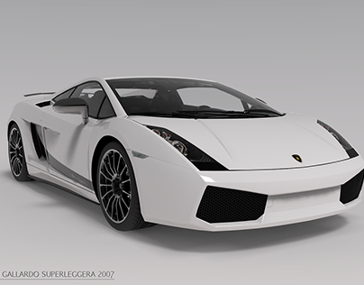 Lamborghini Gallardo Superleggera 2007 渲染