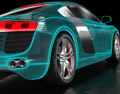 Audi R8 WIREFRAME VERSION