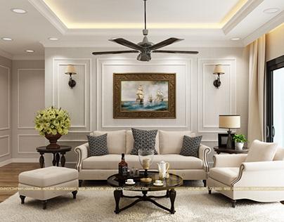 Thiết kế nội thất chung cư GoldMark City - Chị Trang