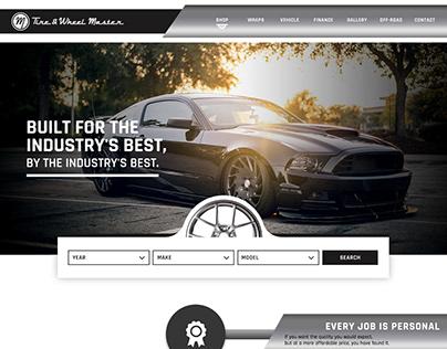 Tire & Wheel Master Website   Website Mock up
