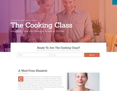 Landing page for workshops