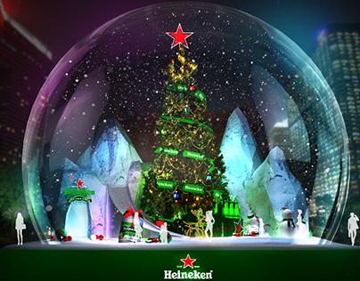 HeineKen Christmas tree