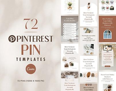 Pinterest Templates Canva Shadow - Editable Pin Pack