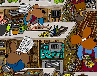 "// ""Dog kitchen"""
