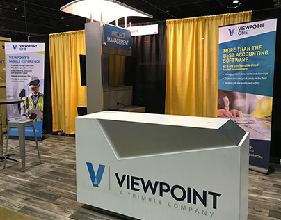 ViewpointOne Trade Show Booth Graphics
