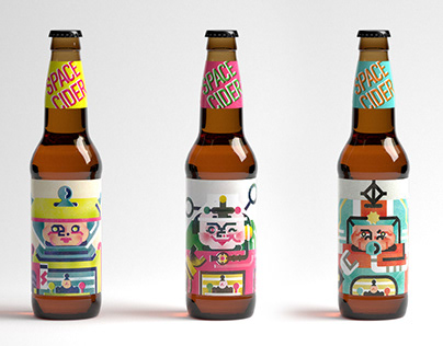 SPACE CIDER Packaging design