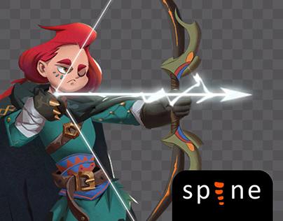 Spine 2d animation archer