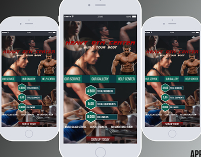 Gym Center App UI Design