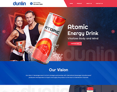 Energy Drink Website