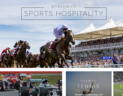 Go Sporting - A Hospitality & Tickets site Web Design