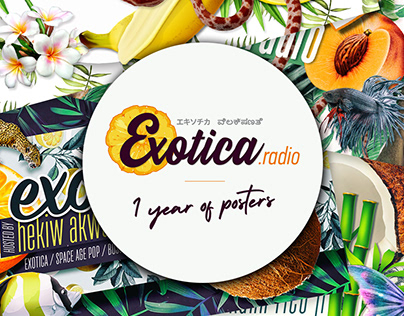 Exotica Radio - 1 yead of Posters