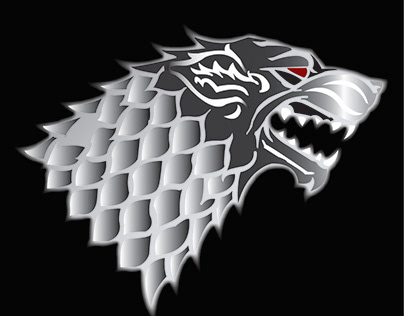 House Stark logo from the show Game of Thrones