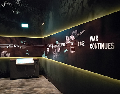 Timeline at the World War Two Exhibition
