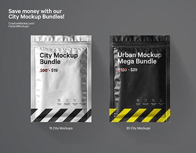 City Poster Mockup Bundle
