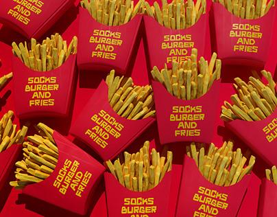 Socks Burger and Fries