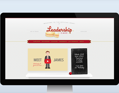 Leadership Cake - branding & web design