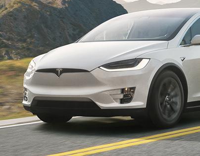 Tesla Model X | Matte Painting