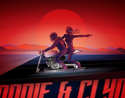 BONNIE & CLYDE SciFi Illustration