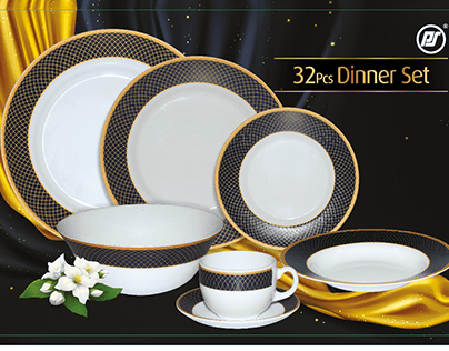 SOVRANA 32 PCS DINNER SET