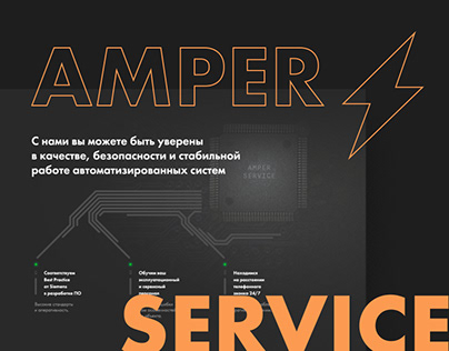 Landing page for Amper Service