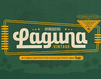 Laguna Vintage Font Collection + Free Demo