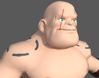 Dwarf 3D Game Character