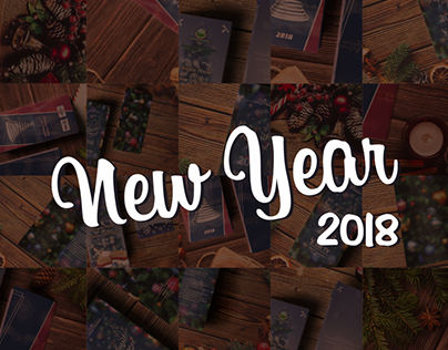 New Year 2018. Corporate greeting cards & calendars