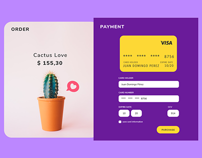 Daily UI #002 Credit Card Payment