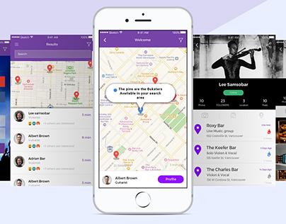 Busker App - UI/UX Design