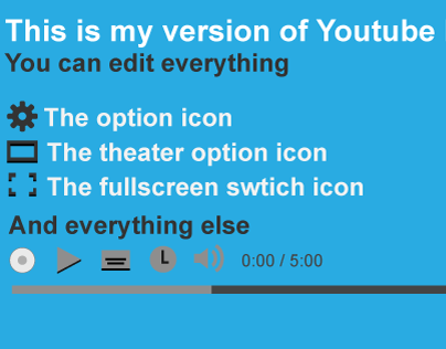 Youtube Video Player Vector Template.