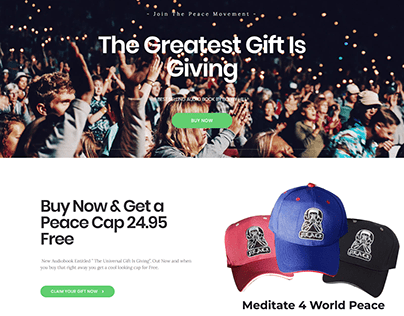 The Greatest Gift is Giving : Landing Page