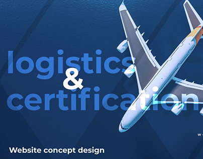 Website design for logistics and certification
