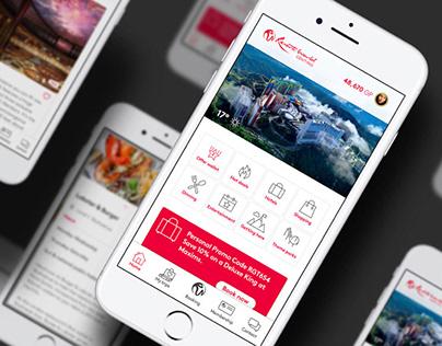 Genting app & web design