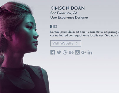Daily UI Challenge #006: User Profile