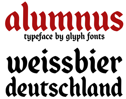 Alumnus - typeface by Glyph Fonts