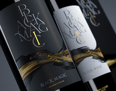 Black Magic - Wine Label Design