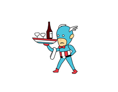 Официант Америка