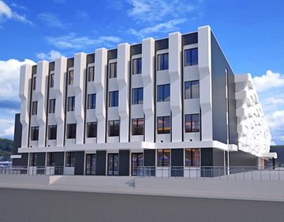 Concept Design of the Shopping Mall facade V.1.