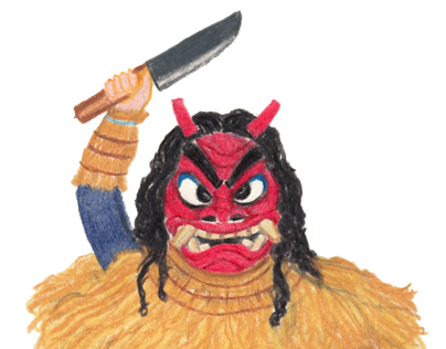 Costume of Japanese Featival. なまはげ柴灯祭 (Namahage)  in 秋田
