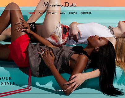 Massimo Dutti Online Store Web Design