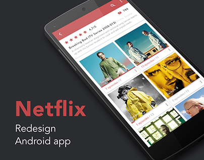Redesign Netflix Series Android App