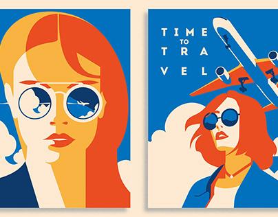 16 Air Travel Illustrations